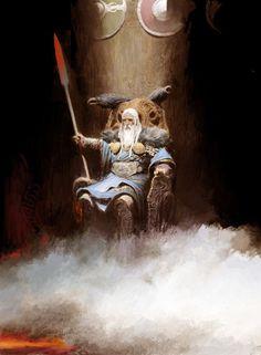 How Powerful Odin The Allfather in Norse Myth? - History of Vikings Norse Runes, Norse Pagan, Norse Mythology, God Of War, Fantasy Warrior, Fantasy Art, Art Viking, Character Art, Character Design