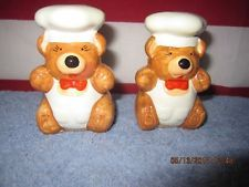 Chef Bears Salt and Pepper shakers