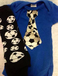 Soccer Set- Shower Gift - Soccer Onesie - Baby Soccer Gear on Etsy, $22.00