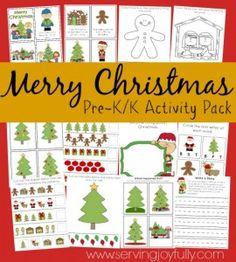 Merry-Christmas- Activity Pack ofr Prek-K!