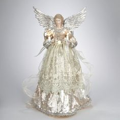 Lighted Gold and Platinum Angel Christmas Tree Topper - Clear Lights -- UNBELIEVABLE! Click the Pin to view this limited deal : Christmas Tree Toppers Lighted Angel Tree Topper, Angel Christmas Tree Topper, Christmas Angels, Christmas Holidays, Christmas Crafts, Christmas Decorations, Christmas Ornaments, Christmas Ideas, Christmas Fairy