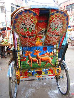 """Ricksha Art"", Allahabad, India post by Robynn Kaiser via Aditi Prakash. Namaste, Asia, Amazing India, Truck Art, Thinking Day, Exotic Places, We Are The World, India Travel, Historical Sites"