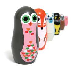 Toy . Nesting Dolls - Animals 2