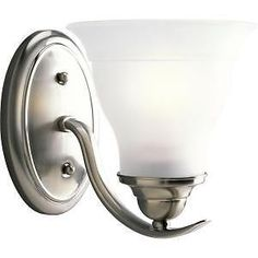 Progress Lighting Trinity Collection 1 Light Brushed Nickel Bath Light | eBay