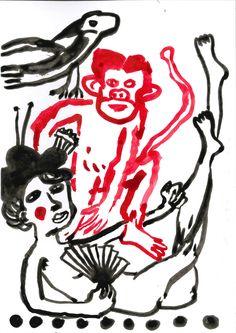Tsugi no mono wa nandemo #ink #drawing  - Gary Goodman