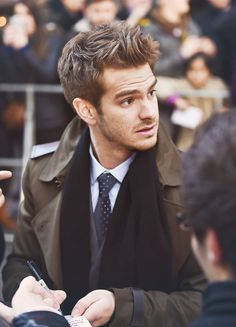 Andrew Garfield  I need to get my hubby this haircut pronto!