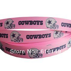 """NFL Dallas Cowboys Blue Grosgrain Ribbon 1/"""" By the yard NEW Foil Star Border"""