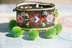 Pakistan Ethnic Style Pompom Bracelet by Violetastore on Etsy, $20.00