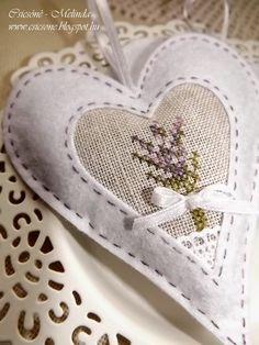 Csicsóné - Xszemekkel az életem: Levendula szívek...