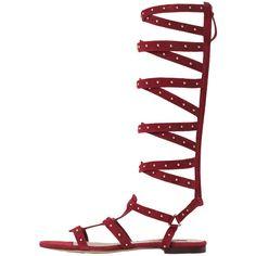 MANGO Leather Gladiator Sandals ($75) ❤ liked on Polyvore featuring shoes, sandals, gladiator sandals, embellished gladiator sandals, strap sandals, greek leather sandals and leather strappy sandals