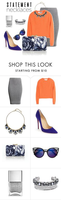 """""""Elegant"""" by nguyenhacamtu ❤ liked on Polyvore featuring H&M, Marni, Chloe + Isabel, Christian Louboutin, Talbots, Nails Inc., LULUS and statementnecklaces"""