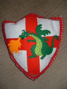 Etsy: Baby/ Children /  Boys Dragon Knight Shield Felt by MakeStitchKnit, $17.50