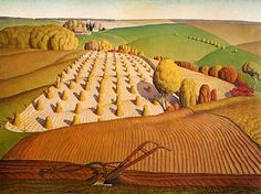 Fall Ploughing (1931) - Grant Wood