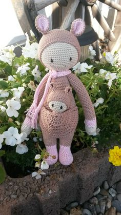 Kira the kangaroo made by Tanja N. / crochet pattern by lalylala