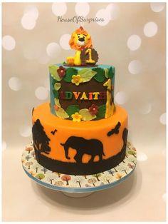Safari theme first birthday cake  - Cake by Shikha