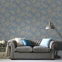 Mystique Blue Wallpaper by Graham and Brown
