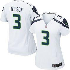 $24.99 Nike Game Russell Wilson White Women's Jersey - Seattle Seahawks #3  NFL Road