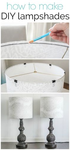 to make a lampshade with your favorite fabric How to make a lampshade - making custom diy lampshades is a quick and easy project. adHow to make a lampshade - making custom diy lampshades is a quick and easy project. Easy Home Decor, Handmade Home Decor, Diy House Decor, Make A Lampshade, Lampshade Ideas, Diy Luminaire, Diy Home Decor For Apartments, Cheap Apartment, Lampe Decoration