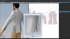 Clothing - Making Man's Tailored Jacket with DXF File Sewing Side Vent on Vimeo Virtual Fashion, 3d Fashion, Womens Fashion, 3d Pattern, Patterns, 3d Video, Tailored Jacket, Industrial Style, Couture