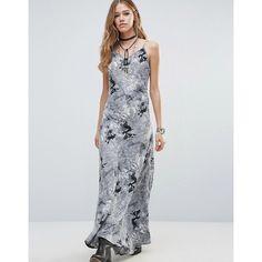 Raga Rising Smoke Slip Dress ($79) ❤ liked on Polyvore featuring dresses, black, slip dress, strappy maxi dress, tall maxi dresses, cotton cami and cami slip dress