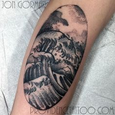 by jon gorman at providence tattoo  #jongorman #providencetattoo #wave #blackwork #tattoo #linework #blackandgrey #oceantattoo #wavetattoo #mtfuji