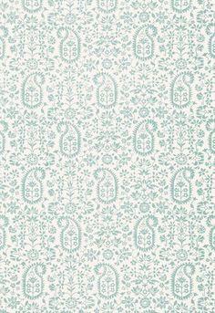 174861 Kalika Paisley Print Linen by Schumacher Fabric
