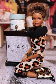 Shared by Carla Beautiful Barbie Dolls, Vintage Barbie Dolls, Barbie Clothes, Barbie Stuff, Diva Dolls, Afro, African American Dolls, Poppy Parker, Black Barbie
