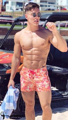 Pink Arrow Swim Shorts Mens Swim Trunks Beach Shorts Board Shorts