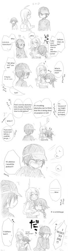 I personally did the translation for this comic with my bad English and my bad Japanese :P ( but I didn't draw it) I will leave the original comic ( in Japanese) as the source, so that you can check out the artist if you like their style.  Kaede Akamatsu, Shuichi Saihara, Kokichi Ouma| Danganronpa V3