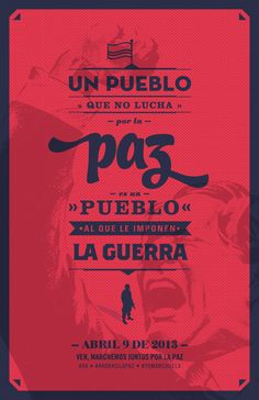 A people who struggle for peace, is a subject people to war. Peace in Colombia.