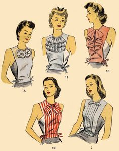 Womens DICKEY SET NECKWEAR 5999 Material Fabric Sew Sewing Pattern 30s-40s Vint  #PATTERNPEDDLERAUCTIONS5999