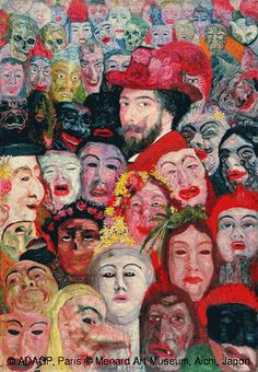 James Ensor,Ensor aux masques,© ADAGP, Paris © Menard Art Museum, Aichi, Japon