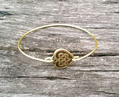 Celtic Heart Bangle Bracelet - $14.99 - Handmade Jewelry, Crafts and Unique Gifts by Inspired by Karma