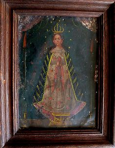 Original-antique-Mexican-retablo-19th-century-religious-oil-painting-on-tin
