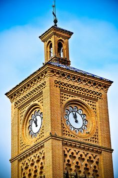 Toledo Spain main railway station clock tower