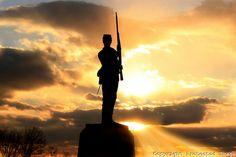 11th Pa Monument sunset | Lynn Light Heller