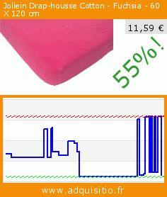 Jollein Drap-housse Cotton - Fuchsia - 60 X 120 cm (Puériculture). Réduction de 55%! Prix actuel 11,59 €, l'ancien prix était de 25,82 €. https://www.adquisitio.fr/jollein/5100058-drap-housse
