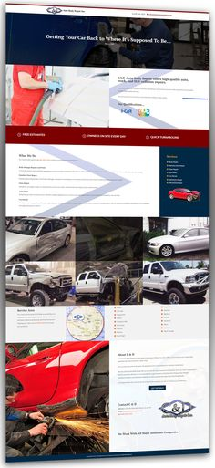 Custom Website for C and D Auto Body by VisionFriendly.com in Naperville Illinois. #websitedesign #autobody #customdesign #websites #moderndesign #sleek Naperville Illinois, Modern Design, Custom Design, Custom Website, Chicago Area, Digital Marketing, Bespoke Design