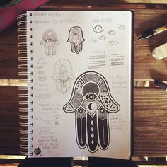 the design for Xenna's tattoo! // #tattoodesign #tattoo #design #hamsa