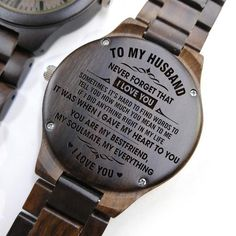 Engraved Wooden Watch – Great Gift For Your Husband – Forever Love Gifts