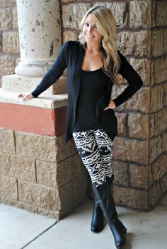 AZTEC MYAN LEGGINGS super cute outfit. Just dont know how it would look on me!