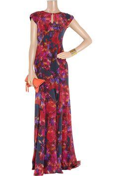 Lucietta floral-print silk crepe de chine gown by Erdem