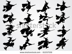 Witch's silhouette by N.Réka, via ShutterStock