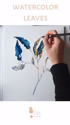 Botanical Painting - Watercolor process video - Do you love botanical drawings? Here you can see the process of this painting in watercolor, and if - Watercolor Video, Watercolor Leaves, Watercolour Tutorials, Watercolor Techniques, Watercolor And Ink, Watercolor Paintings, Watercolors, Ink Paintings, Watercolor Pictures