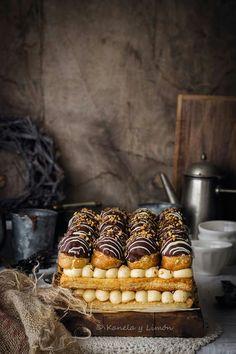 #foodphotography #cake Just Desserts, Delicious Desserts, Dessert Recipes, Yummy Food, Profiteroles, Eclairs, Beautiful Desserts, Chocolates, Food Inspiration