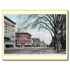 Main St., Concord, New Hampshire Vintage Post Card