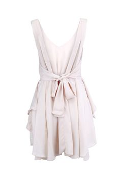 Backless Nude Shift Dress - this is perfect.