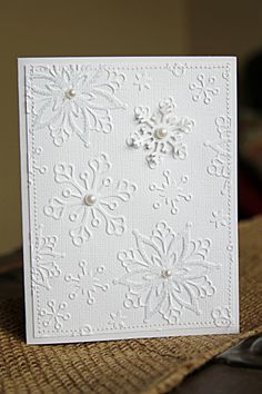 Texture is what makes these white handmade cards so beautiful! With a few tips, you can elevate a very simple card to an eye-catching showpiece in no time!