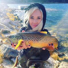 A great tiger trout caught on fly by erica_outdoors. Cheers!