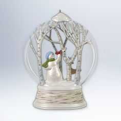 Hallmark 2012 Woodland Wonderland Snowman Ornament * Click image for more details. (This is an affiliate link) Snowman Christmas Ornaments, Christmas Home, Xmas, Least Favorite, Hallmark Keepsake Ornaments, Snow Globes, Woodland, Creative, Image Search